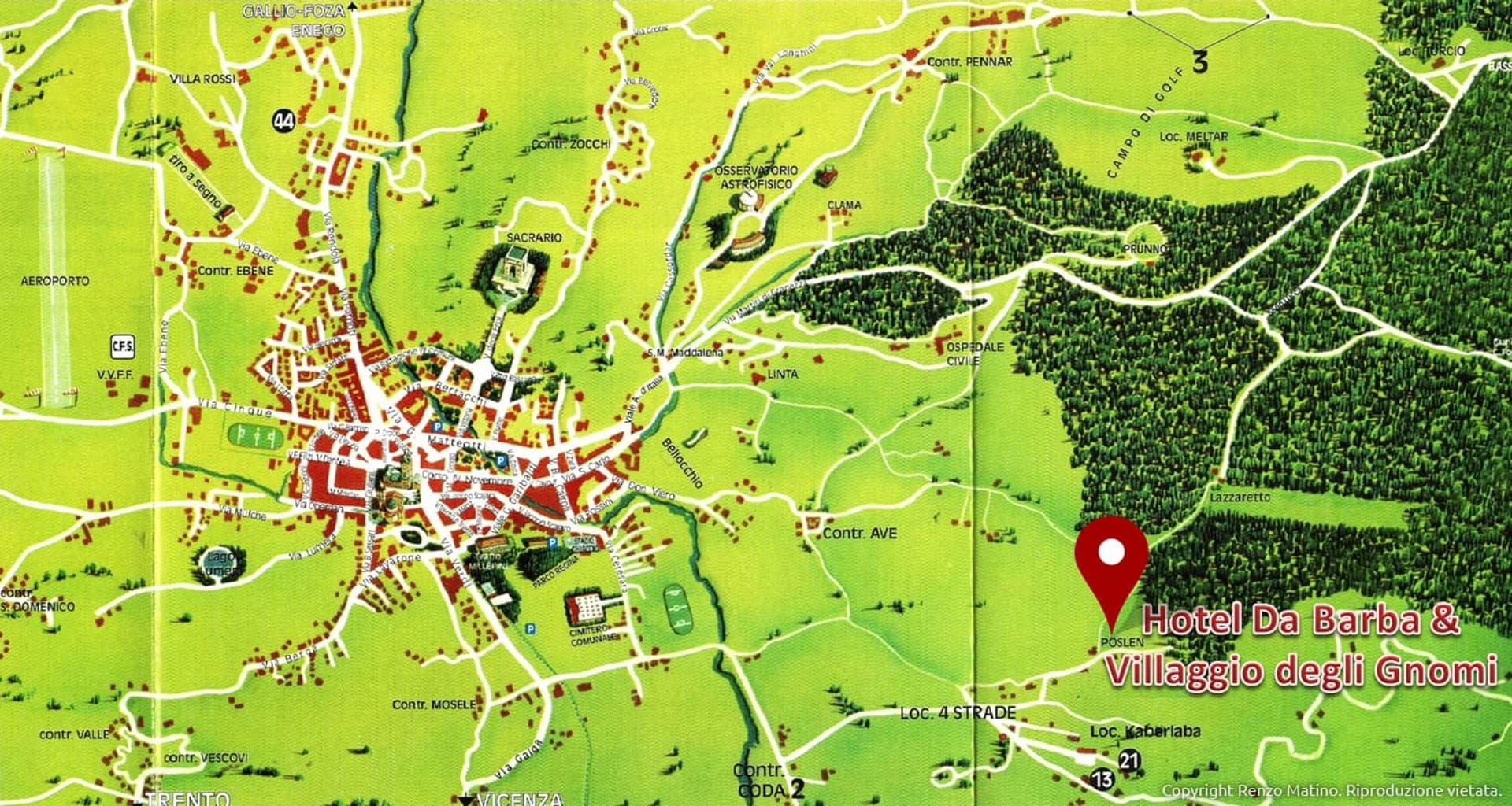 Cartina Asiago e dintorni