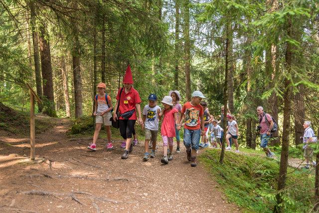 bambini nel bosco poslen