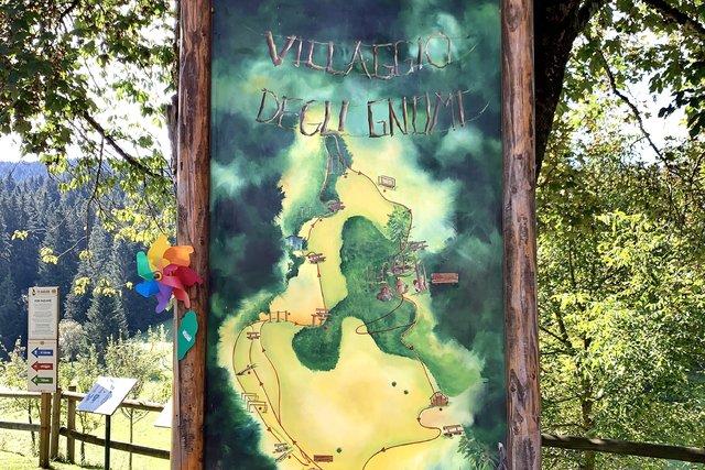 cartello villaggio degli gnomi
